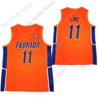 2020 neue Florida Gators Statistiken College Basketball Jersey NCAA 11 Linie Orange Alle genäht und Stickerei Männer Jugendgröße