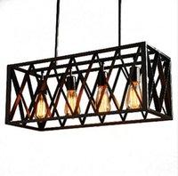 Lâmpadas de pendente industrial do vintage preto luzes do estilo do sótão nórdico aranha retrô 4/6 cabeças da sala de jantar Edison