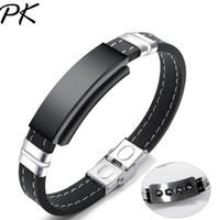 Bijoux aimantés à la mode européenne et américaine, bracelet pour homme en silicone lisse lisse classique pour homme à la mode, bracelet étudiant