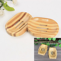 Natural Bamboo Wooden Soap Dish Holder Storage Soap Rack Pla...