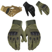 Спорт На Открытом Воздухе Тактические Армейские Перчатки Airsoft Стрельба Велосипедный Бой Без Пальцев Пейнтбол Жесткий Углеродный Кулак Полный Палец Велосипедные Перчатки