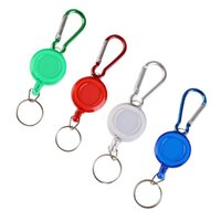 سلسلة مفاتيح قابلة للسحب شارة Carabiner Id Ski Pass Key Ring Super Quality Llaveros Para Mujer Fashion Rope Keyring Keychain