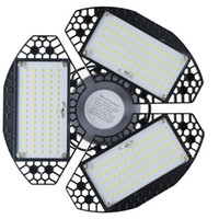 Stock en US 60W LED Garaje LED Luz High Bay Iluminación IP65 Impermeable 80W LED Luces de dosel para Warehouse Taller Hall Lobby Iluminación
