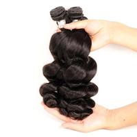 Bir Donör Kutikulanın itibaren Saç Fabrikası Tedarik İyi 10A Perulu Bakire İnsan Saç Paketler Gevşek Dalga 4pieces 400g Lot Natural Color