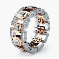 الأزياء الإبداعية هاردو خواتم زوجين للرجال النساء 14 كيلو مطلية بالذهب كريستال خواتم الاصبع عشاق الزفاف والمجوهرات valentines'gifts بالجملة