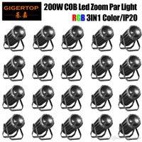 Grosso Preço 20 Unidades Top Seller LED Par 200W Luz Zoom Função 15-50 Professional Stage Dj Tyansihne COB 3IN1 RGB Liso dimmer