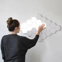 램프 LED 육각 램프 모듈을 눌러 민감한 조명 나이트 라이트 자기 육각형 크리 에이 티브 장식 벽 Lampara