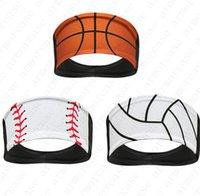 Designer Softball Sports Stirnband Baseball Krawatte Stirnbänder Bandanas Sweat Turban Sports Schnelle Trockene Männer Frauen Stirnband Kopfschmuck 2020 HOT D52216