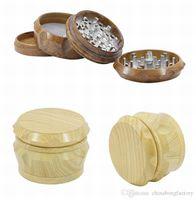 Broyeur bois tabac Grinder 2019 nouveau 4 pièce 40m 50 mm 55mm 63mm Set fumeurs meuleuses métal en forme de tambour receveur de presse de pollen DHL