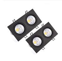Black Square Cob Downlights 7W / 10W // 20W / 30W / 40W LED Downlight AC85-265V Deckenleuchte Einbauleuchte innen
