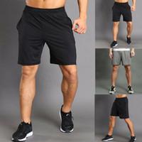Los nuevos hombres de la alta cintura 2019 Solid basculador de la aptitud cortocircuitos de la playa deporte que se ejecuta Summer Training Gym Pantalones cortos