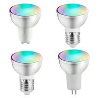 Smart WiFi LED ضوء لمبة شمعة المصابيح عكس الضوء GU5.3 GU10 E27 التطبيق التحكم عن بعد متوافق مع Alexa Google Home