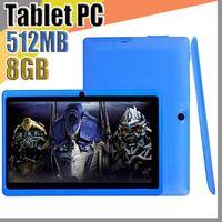 JT bon marché 7 pouces Q88 Dual Caméra A33 Quad Core Tablet PC Android 4.4 OS WIFI 8GB 512M Tablette Bluetooth capacitif multi-tactile A-7PB