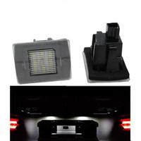 2PCS 18SMD LED номерного знака Лампа для W117 W218 Подсветка номерного знака Лампа автомобилей-стиль