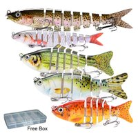 Multi Jointed Realistic Swimbaits Fishing Lures for Bass 5PC...