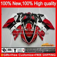 Corpo per Kawasaki ZX 6R ZX600 600cc vendita calda 6 R Rosso ZX636 05 06 35HC.87 ZX636 600 CC ZX6R 05 06 ZX600 ZX 636 ZX6R 2005 2006 carenatura kit