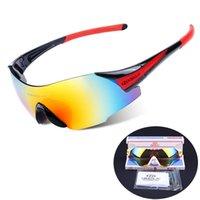 Radfahren Sonnenbrille - polarisierte Sport-Sonnenbrille Randlos Sonnenbrillen für Männer Frauen UV400 Fahrradbrillen Berglauf Golf Wandern, 6 Farben
