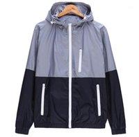 패널로 색상 얇은 재킷 남성과 여성 Casutsal 야외 광선이 통하지 못하는 만들어진 자켓 남성 가을 봄 디자이너 재킷 패션