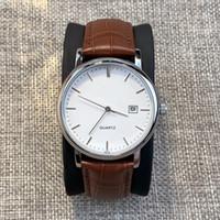 2019 Nuevo estilo Top Elegante caballero Reloj de moda Con fecha Japón Movimiento Vestido Calendario de diseño de lujo Reloj de cuarzo Reloj reloj de pulsera masculino