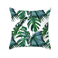 Dekorative Kissen Nordische tropische Pflanzen drucken Kissenbezug Polyester Wurfkissen Sofa Home Decor Kissenbezug