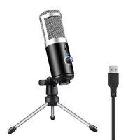 Bilgisayar Dizüstü PC USB Tak Profesyonel Mikrofon Kondenser + Stüdyo Podcasting Kayıt mikrofonun Karaoke Mikrofon yeni Standı