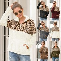 Luxo Womens Leopard Hoodies Moda frouxo suéter Designer Tops Womens retalhos