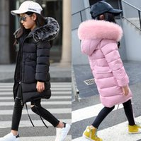 New Girls Long Padded Jacket kids Winter Coat Kids Warm Thic...