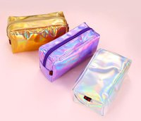50pcs Cosmetic Bag Women Pu Laser Waterproof PVC Pouch Wash ...