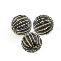 14mm fluted stripe ondulada redonda forma acrílica design antigo espaçador espaçador para diy jóias artesanais fazendo acessórios