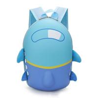 아기 소년 비행기 Schoolbag 어린이 배낭 하드 쉘 블루 팩 미니 만화 우주선 사랑스러운 아이 귀여운 유치원 가방