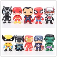 DHL 10cm 10pcs Lot The Avengers Spider Man Captain America A...