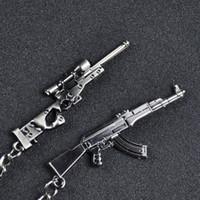 Mini Pistola modelo de coche pequeño colgante Paquete Llavero metal creativo personalizado pendiente de la llave del anillo de la mano del encanto del bolso colgante
