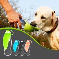 580ml Sport Taşınabilir Pet Köpek Su Şişesi Yumuşak Silikon Seyahat Bowl için Yavru Kedi İçme Açık Su Sebili