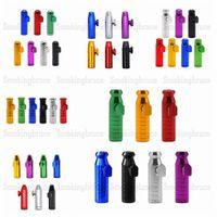 Sniff Snorter Series Series Rocket Алюминиевый сплав сплава Sniff Snorter Sniffer Dispenser Nasal трубка для курения ручной трубы металлические табачные дыма трубы