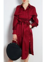 Sexy Strapless Trench Coat Women' s Long 2019 Autumn New...