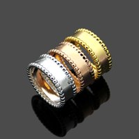 2020 classic VC * double row steel ball men and women ring 18K rose gold flower couple ring Christmas Gift