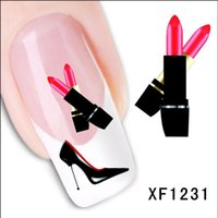 Fashion Nail Art Decals Sticker Dolphin Panda Lipstick Patte...