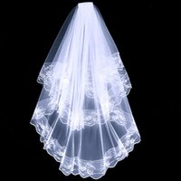 Black White Lace Bridal Veils with Comb Short Two Layer Elegant Vintage Wedding for Cosplay Costume Hair Accessories