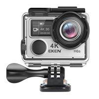 Caméra d'action Ultra HD d'origine EKEN H6S avec 4K / 30FPS 1080P / 60FPS EIS 30M Caméra de sport imperméable H6S Native 4K avec technologie EIS