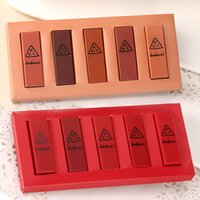 Dropshipping Five Pcs Pumpkin Eating Earth Color Big Red Lipstick Waterproof Mini Combination SMJ