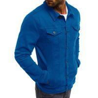 Новое прибытие мужские куртки мужские Сплошной цвет Инструментальное пальто высокого качества вскользь для мужчин Размер M-3XL