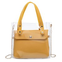 NEW- Transparent Small Square Bag Shoulder Diagonal Package L...