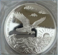 99,99% cinese Shanghai Mint Ag 999 5 5 once zodiaco della moneta d'argento ~~ aquila EH04