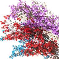 Artificial Gypsophila Flor De Seda Gypsophila Ramos Longo Flor De Caule 108 cm azul / roxo / vermelho / rosa / branco para o Casamento Casa Flores Decorativas