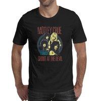 Moda Erkek Motley Crue 83 Şeytan'da Shout Siyah Yuvarlak Boyun T Gömlek Kişiselleştirilmiş Slim Fit Gömlek Uç Kavramlar Band Logo Shout 84