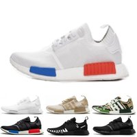 Classics NMD R1 Oreo Runner Japão NBHD Primeknit OG triplo Preto Branco Camo Running Shoes Homens Mulheres NMDS Runners XR1 Sports Trainers 36-45