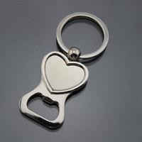 Abridores de garrafas portáteis da forma do coração com anel de suspensão Chaveiro / abridores de garrafa de vinho abridores abertos