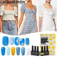 LAGUNAMOON Gel Nail Polish Set 6pcs Daisy Collection LED UV Soak Off Varnish Laca Manicure do salão de beleza do prego Arts 8 ml