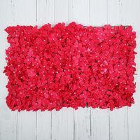 Matrimonio ecologico artificiale di fiori di ortensia parete delicata parete di fiori artificiali fiore di seta durevole sullo sfondo del muro di nozze EEA309