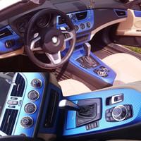 Per BMW Z4 E89 2009-2016 interni Pannello di controllo centrale Maniglia porta 3D / 5D adesivi in fibra di carbonio Decalcomanie Auto Styling Accessorie